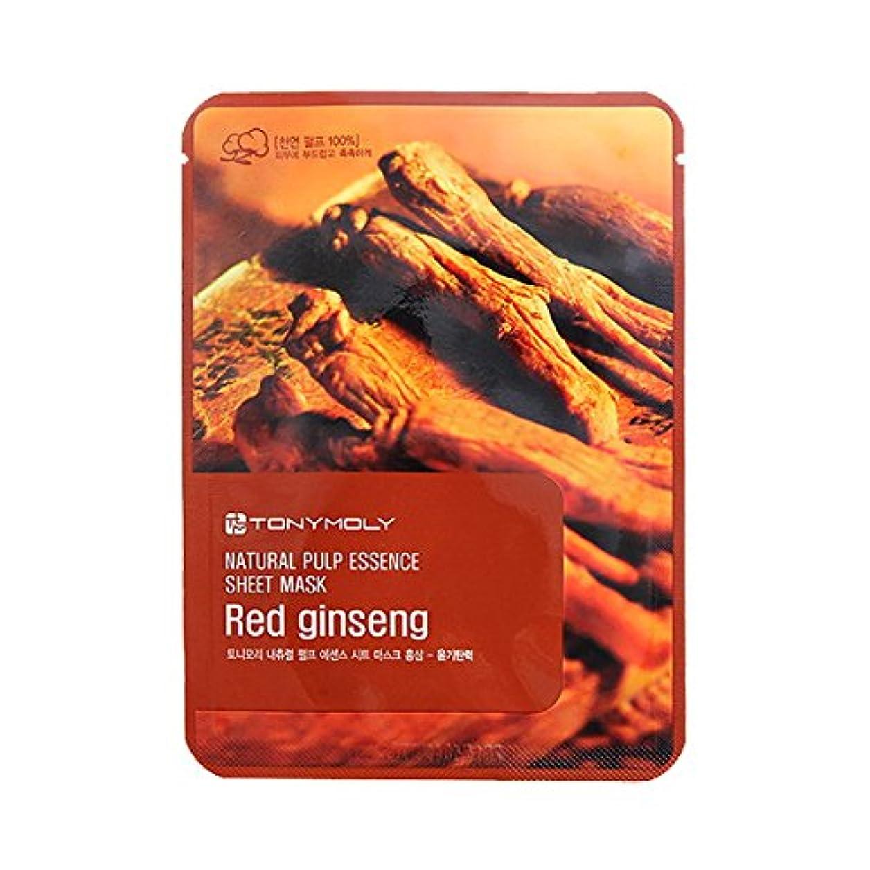 学校教育安息ノーブル(3 Pack) TONYMOLY Pureness 100 Red Gingseng Mask Sheet Shine (並行輸入品)