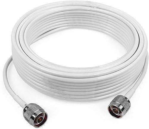 LMR200 Silver SMA FEMALE to N FEMALE BULKHEAD Coax RF Cable USA Lot