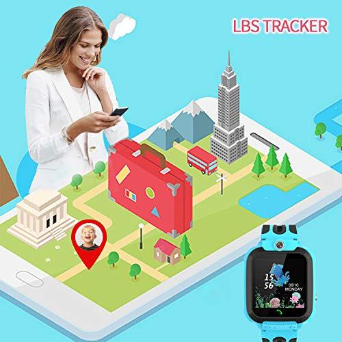 Kinder Smartwatch Telefon Uhr, Vannico Wasserdicht Kids Smart Watch für Kinder mit SOS Anruf, Geschenk für Jungen Mädchen (Blau)