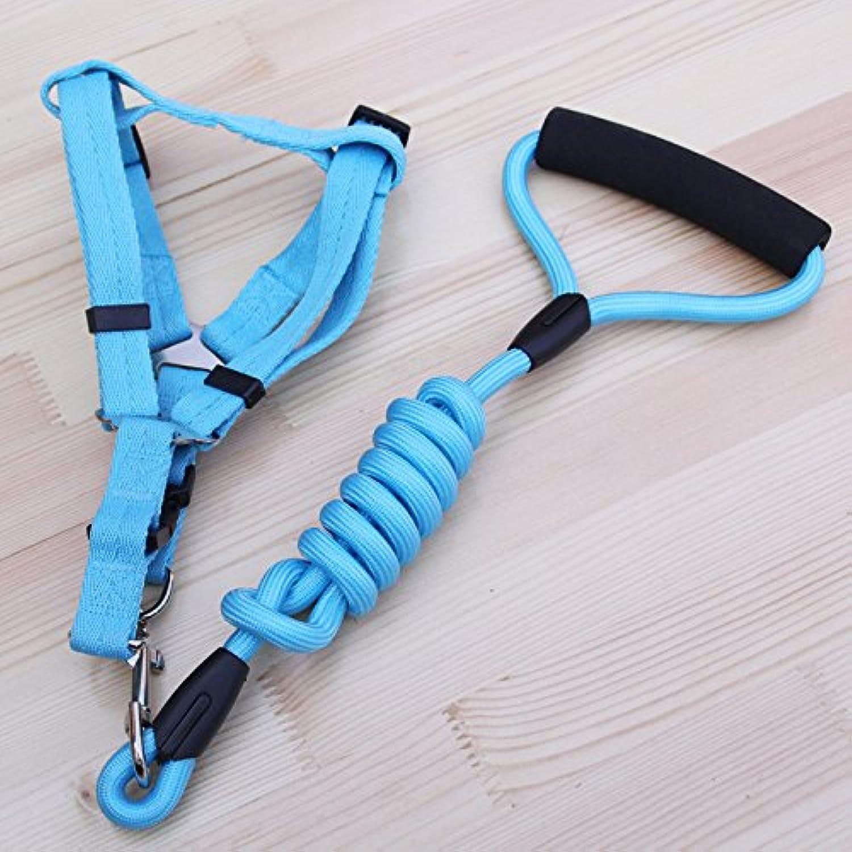 Dog Leash, 1.2M Dog Leash Dog Leash Strap Dog Tracking Pet Dog leashes (color   bluee, Size   1.5cm)