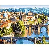 1000ピース ジグソーパズル木製プレプリントパターン美しい街の風景ジグソーパズル 1000ピース 絵画 大人 子 向け 木製パズルDIY家の装飾、パズルゲーム、減圧教育ギフト75x50 cm(8歳以上に適しています)