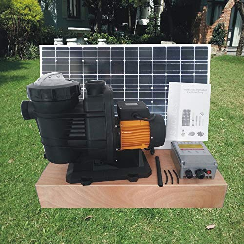 LIXUDECO Wasserpumpe 2 Jahre Garantie 72V 1200watts Solar-DC-Pool-Pumpe, solarbetriebene Poolpumpe, Umwälzpumpe, JP31-19/1200
