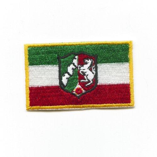 NRW Flagge Düsseldorf Nordrhein - Westfalen BRD Patch Aufnäher Aufbügler K-4