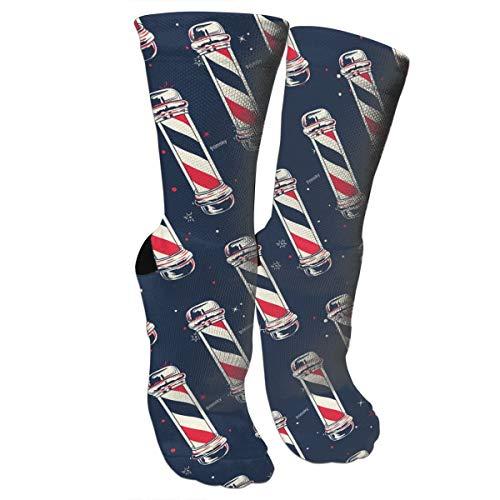 Vintage Barber Pole Flag.jpg Graduated Compression Socks for Unisex - Best Medical, Nursing,Running & Fitness Crew Socks
