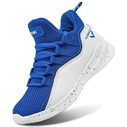 ASHION Jungen Basketballschuhe Sneaker Sportschuhe Jungen Turnschuhe Laufschuhe Outdoorschuhe(F Blau,39EU)
