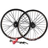 GJZhuan Llanta Bicicleta 20 Pulgadas 406 Aleación de Aluminio Borde del Freno de Disco/V Freno BMX Bicicletas Juego de Ruedas 100 / 135mm 32 Orificios de Liberación Rápida Velocidad 8/9