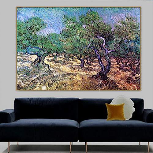 Vincent Willem van Gogh (Vincent Willem van Gogh), antiguo maestro del pop, pintor Oliver Grove, lienzos, pósters e impresiones de arte de paredes interiores 40x60CM SIN marco