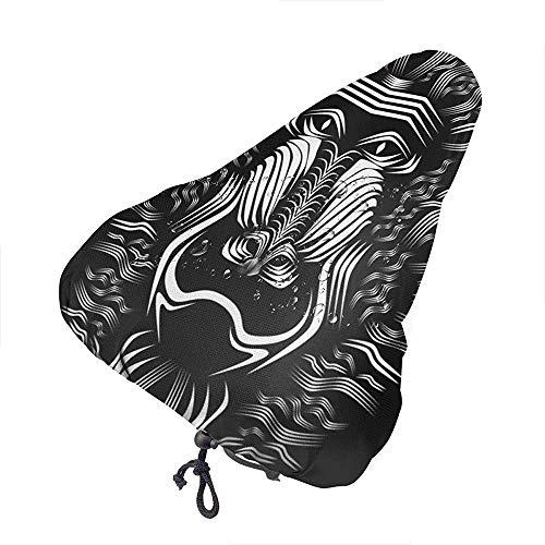 Cubierta De La Silla De Montar Mapa De Escandinavia,Noruega,Suecia,Dinamarca,Finlandia Cubierta De Asiento De Bicicleta con Cordón Cubierta De Silla De Montar A Prueba De Lluvia con Cordón