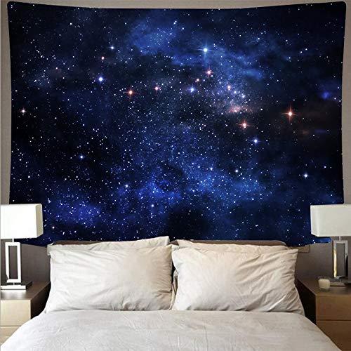 Tela de pared de galaxia estrellada tapiz de arte psicodélico colgante de pared toalla de playa tela de fondo decoración del hogar tapiz A6 130x150cm