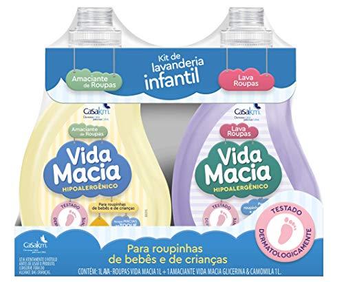 Kit Vida Macia (Lava Roupas e Amaciante - Glicerina e Camomila) 1L