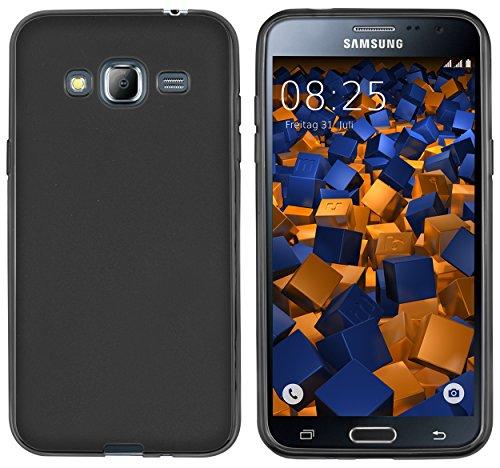 mumbi Hülle kompatibel mit Samsung Galaxy J3 2016 Handy Hülle Handyhülle, schwarz