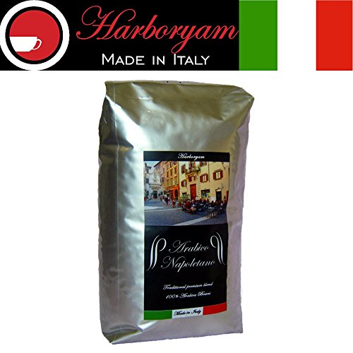 Coffee Beans - 100% Arabica Blend traditionally Made in Italy (1kg 1xbag)