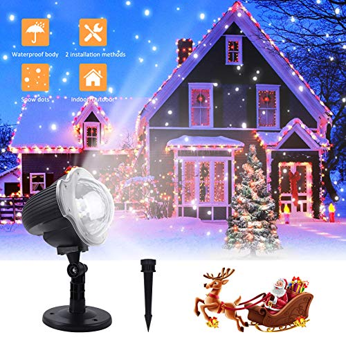 2-in-1 Ocean Wave LED Waterproof Projection Lights with Remote for Xmas Theme Holiday Party Decorations VANKYO Christmas Projector Lights Outdoor