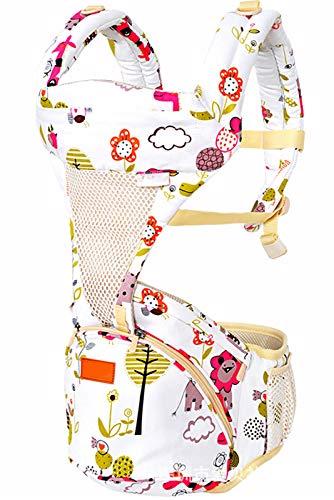Portador De Bebé, Frente Al Futuro Ergonómico, Almacenamiento Incorporado, Cinturón De Cintura Ajustable con Soporte Lumbar, para Recién Nacido A Un Niño, Patrón,B
