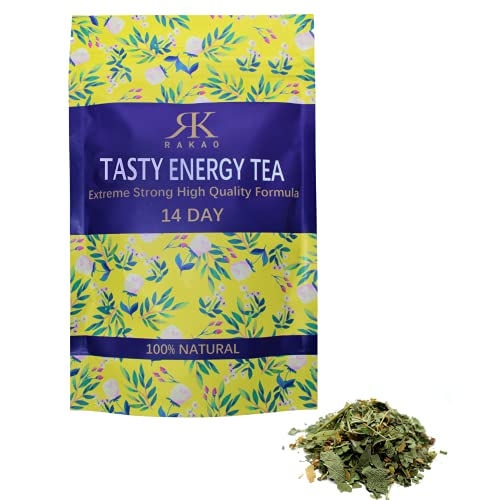 RK RAKAO Grüner Tee Energy - Purer Geschmack - Moringa Tee - Cupper Tea - Natürlich - Oolong Tee - Ideale Anwendung beim Sport Outdoor, Gym, Training - Green Tea Energy Drink - Entspannung lecker