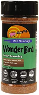 Dizzy Pig Wonder Bird Poultry BBQ Seasoning Spice and Dry Rub - All Purpose Blend for Chicken, Turkey and More - Natural, No MSG - 8 oz