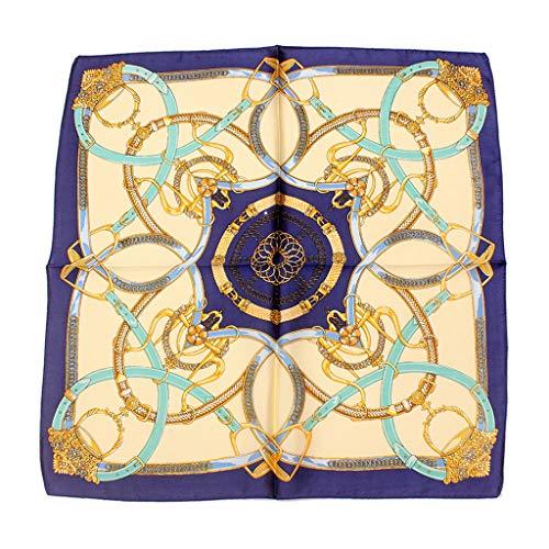 Hellery Pañuelo Cuadrado de Satén de Seda Ligero Bufandas para Dormir para Mujer - Armada, tal como se describe