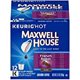 MAXWELL HOUSE French Roast Dark Roast Coffee, Keurig K Cups, Caffeinated (72 Pack) Bulk K Cup Coffee Pods for Your Morning Routine, an Energy Boost or a Pick Me Up Great with Creamer Kosher