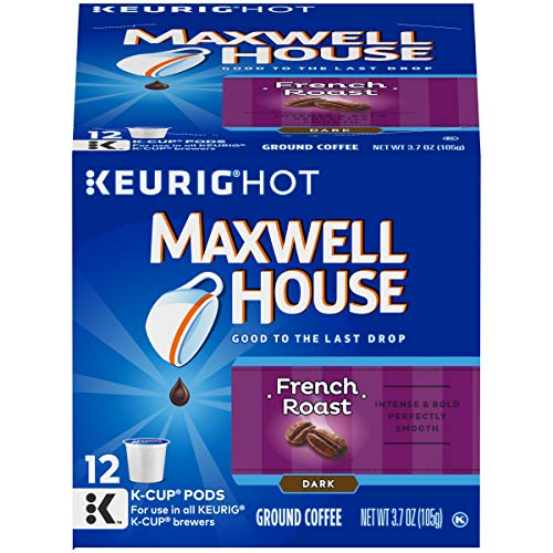 Maxwell House Dark French Roast Coffee K Cup Pods, Caffeinated, 12 ct - 3.7 oz Box (Pack of 6)