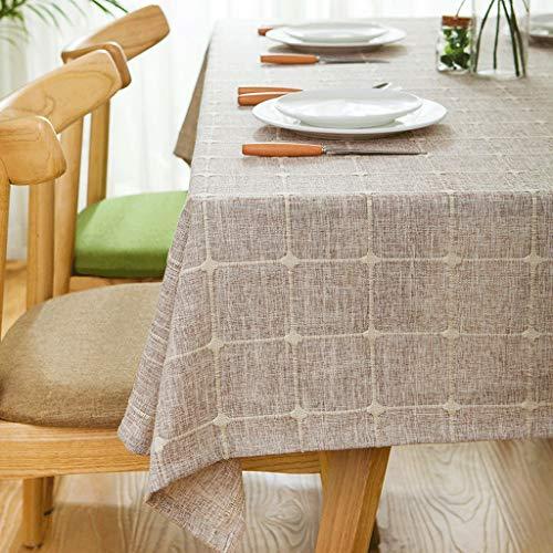 GXQ Tela Escocesa Mantel de Tela Mantel de Tela Algodón Mantel Cuadrado pequeño (Color : Brown, Tamaño : 180x180cm (71x71 Pulgadas))