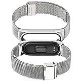 AHANGA pour Xiaomi Mi Band 5 Bracelet Mi Band 4/3 Strap Ajustable en Acier Inoxydable Watch Bracelet...