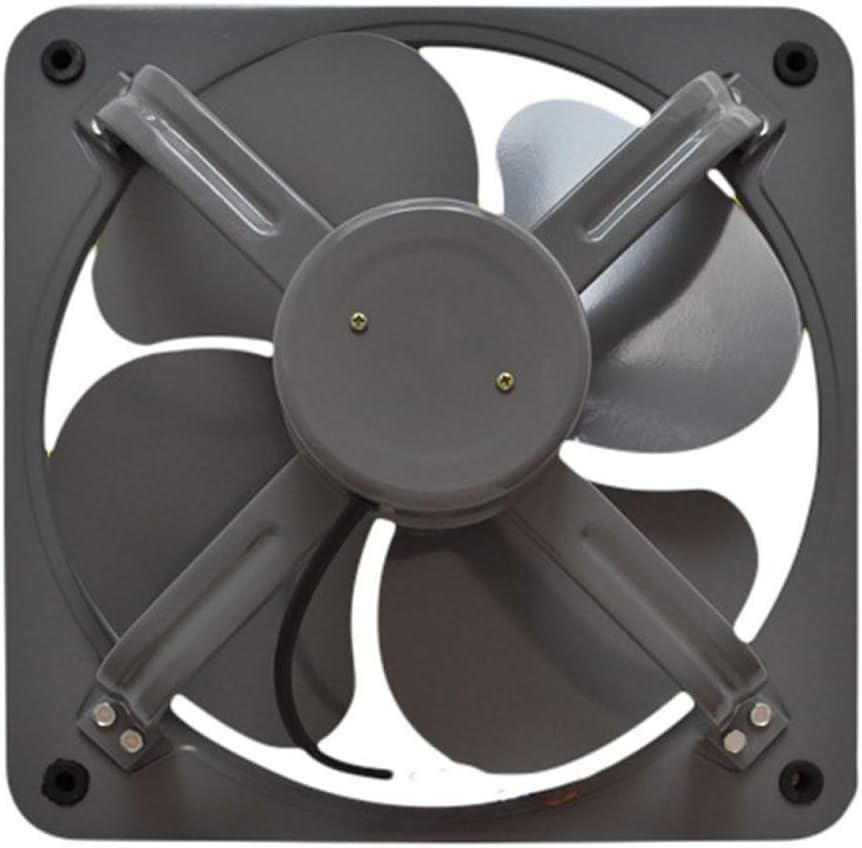 Ventilador de ventilación doméstico De Alta Velocidad All-Hierro Extractor, De 12 Pulgadas, Silencioso, Duradero, Extra-Gruesa Rueda De Viento De Baño/Cocina/Sala De Estar/Industriales LITING