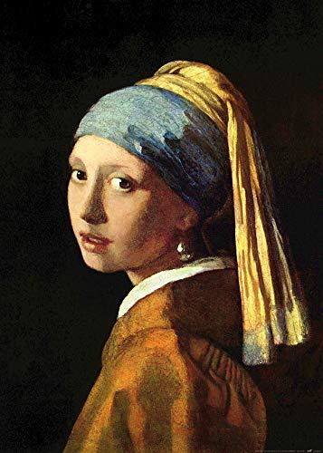 1art1 Johannes Vermeer - Das Mädchen Mit Dem Perlenohrring, 1665 Poster Kunstdruck 70 x 50 cm