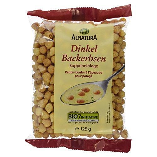 Alnatura Bio Dinkel-Backerbsen, 8er Pack (8 x 125 g)