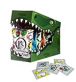 einhorn Kondome - Geschenk Special - Super Dino - 63 Stück - vegan + 2 schlüpfrige Stempel und Stickerbogen
