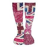 Unisex beautiful The Tide of Stockings socks comfortable and warm (Vintage London British Flag)