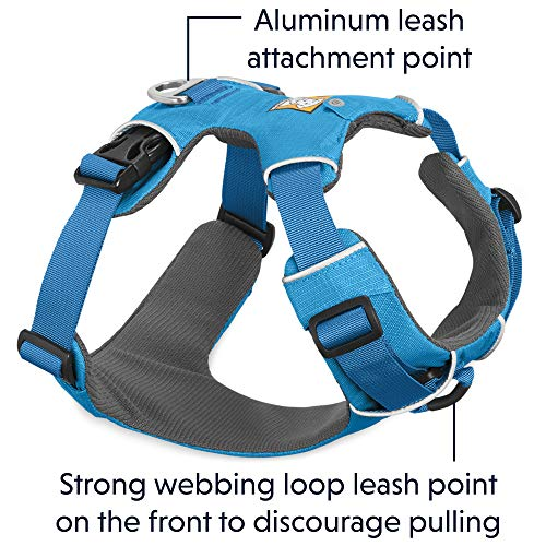 RUFFWEAR - Front Range Dog Harness, Reflective and Padded Harness for Training and Everyday, Blue Dusk (2017), X-Small