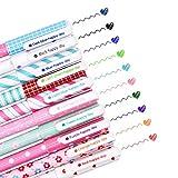 SITAKE 10 Pcs Cute Pens Kawaii Pens Fun Pens, 0.38mm colorful Writing Gel Ballpoint Pens, Korean Japanese Stationery School Supplies for Teen Girls Women Gifts (Small love)