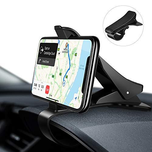 EONO by Amazon -Soporte Móvil para Coche,HUD Soporte Móvil Coche GPS, Pinza Fuerte de Base Titular Móvil Vehícul, Compatible con iPhone, Samsung, Huawei, HTC, LG 3.0