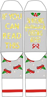 If You Can Read This Watching Christmas Movies Socks Cotton Novelty Socks Funny Hosiery Gift