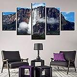 MSKJFD Angel Falls Wasserfall Venezuela 5 Stück Leinwand