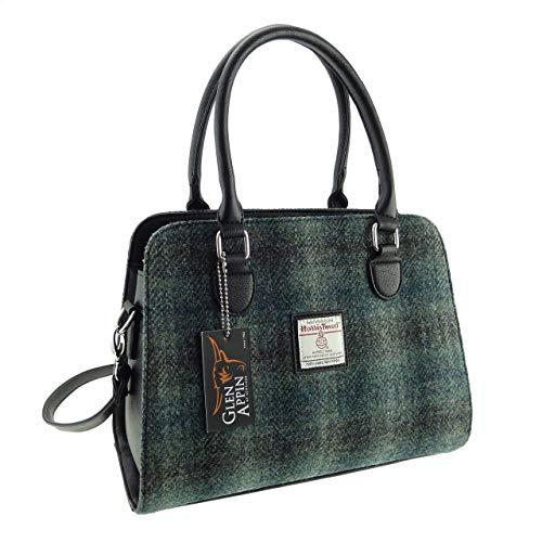Donna Originale Scozzese Harris Tweed Midi Borsa Findhorn Borsa Disponibile in Vari Colori LB1227 - Col 91, 26cm H X 34cm W X 15cm D.