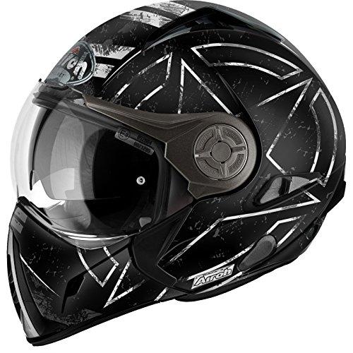 Airoh Motorrad Helm J106, Command Schwarz Matt, 58 cm