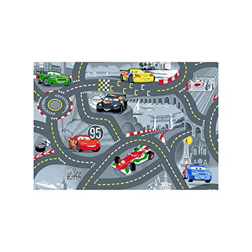 Associated Weavers 612815 Tapis de sol Disney Cars Gris 95 x 133 cm