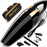 Rytek Car Vacuum Cleaner High Power 120W - Corded Portable Mini Auto Vacuum Cleaner Powered by 12V Outlet of Car - Long Power Cord 16.4FT(5M) - 2 HEPA Filters - Carrying Bag - Black