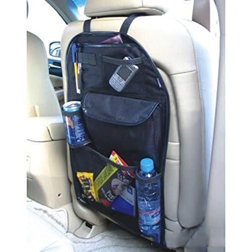 Gemini_mall® Organiseur de siège arrière de voiture multi-poches pour rangement de cargaison pour voiture, SUV, coffre (Noir)