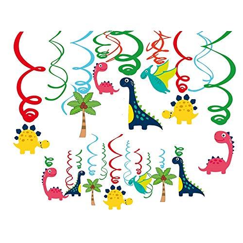 Sayala 30 Piecs Dinosaurio Decoraciones Colgantes,Dinosaurio Colgante Remolino Techo Pasillo Ventana Serpentinas Decoración Fiesta Suministros