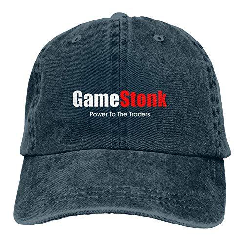 Jopath Wallstreetbets WSB Gamestonk Stock - Gorra de béisbol ajustable unisex lavable de algodón para papá