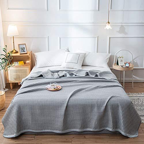 JYDQM Ropa de Cama Suave de la Manta del algodón de la Manta de Malla, materias Textiles caseras japonesas del edredón del Adulto del Verano (Color : A, Size : Small)