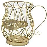 ZHURGN Taza del Organizador de café, Caja de Almacenamiento de café, cápsula de café, Cesta de Almacenamiento de la cápsula de la cápsula de la Taza de la Taza de k Forma de Taza Negra, para Contador