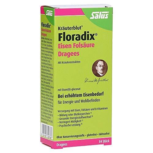 Hierbas Floradix Hierro Fólico Hierro Ácido Fólico 2 x 84 grageas para energía y pleno rendimiento