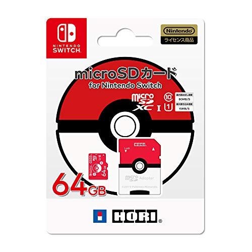 任天堂ライセンス商品ポケットモンスター microSDカード for Nintendo Switch 64GB モンスターボールNintendo Switch対応