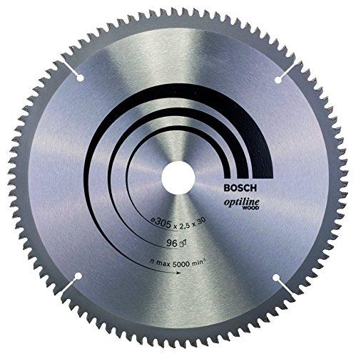 Bosch Professional Kreissägeblatt Optiline Wood (für Holz, 305 x 30 x 2,5 mm, 96 Zähne, Zubehör Kreissäge)