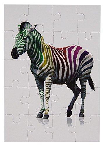 bsb - 493724 - Puzzle Card, mit Umschlag, 20 Teile, Zebra