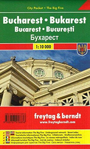 Bukarest, Stadtplan 1:10.000, City Pocket + The Big Five: Stadskaart 1:10 000 (freytag & berndt Stadtpläne)