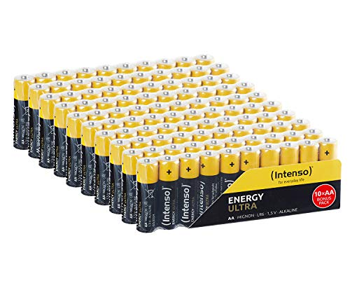 Intenso Energy Ultra AA Mignon LR6 Alkaline Batterien 100er Pack, gelb-schwarz